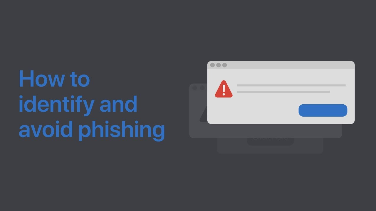 How to identify, avoid, and report phishing — Apple Support