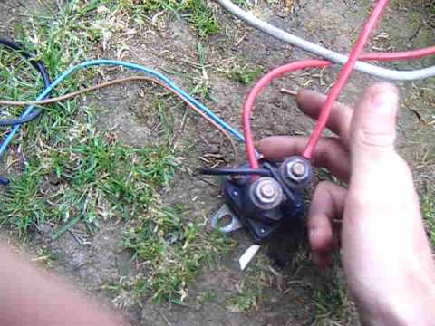 hqdefault how to wire a solinoid youtube mtd starter solenoid wiring diagram at arjmand.co