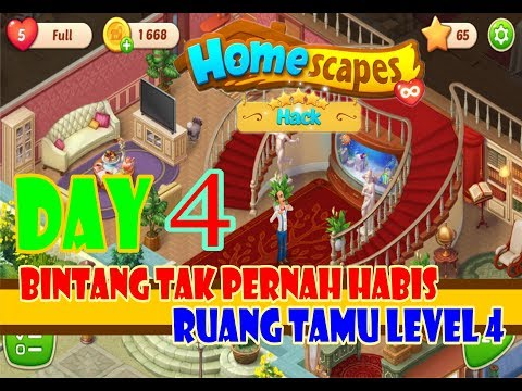 HOMESCAPES STORY LEVEL 4 DAY 4 Unlimited STARS - 동영상