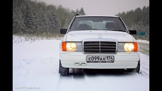 Холодный запуск Мерседес w 124 2.5 дизель зимой. Diesel cold start Mercedes w 124 winter.