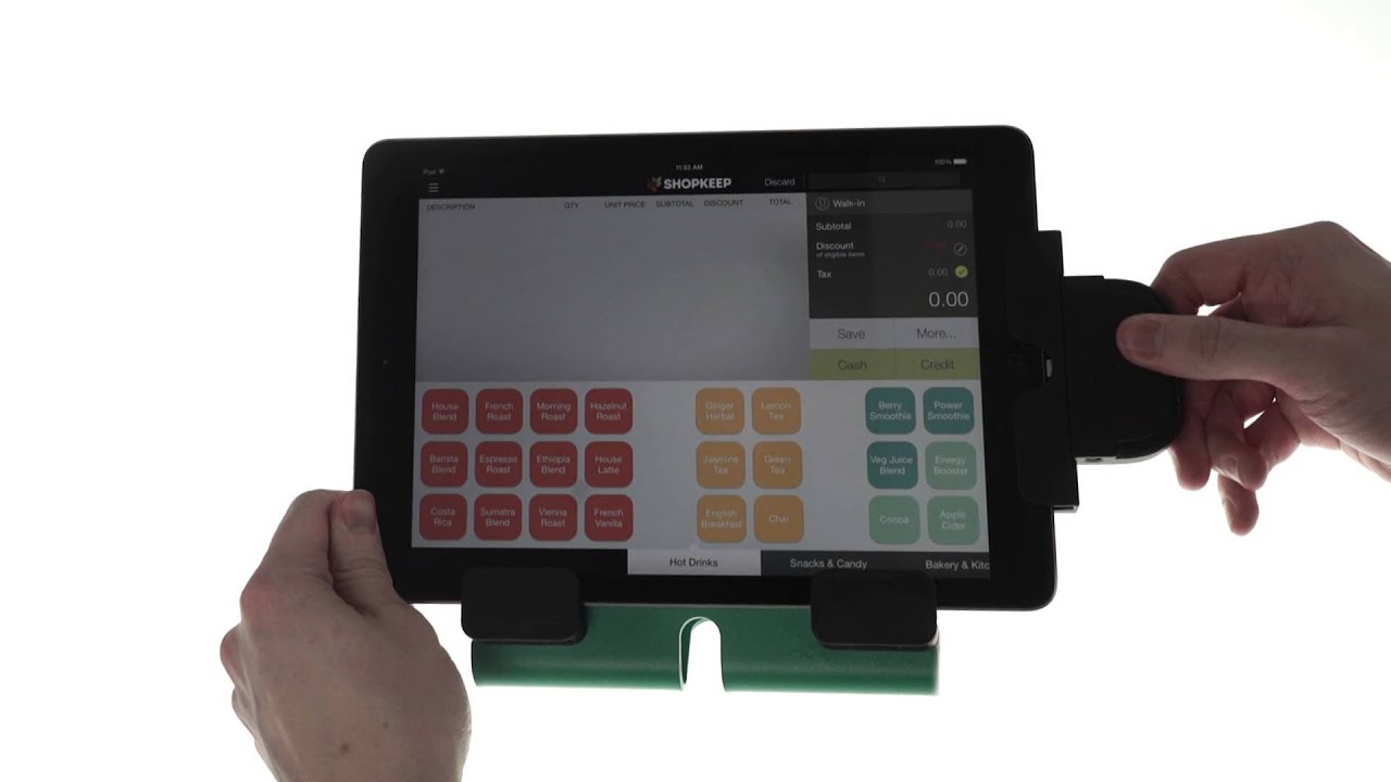 how to set up the idynamo credit card swiper with the shopkeep ipad cash register - Credit Card Swiper For Ipad