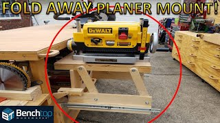 Fold Away Planer Stand, with dust collection