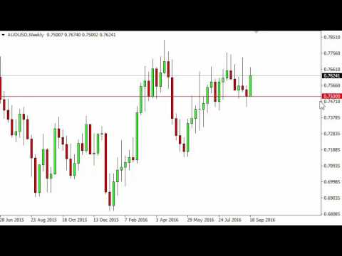 AUD/USD Forecast for the week of September 26 2016, Technical Analysis