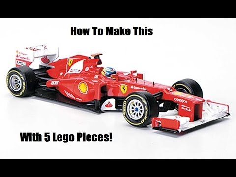 how to make a f1 car with 5 lego pieces youtube. Black Bedroom Furniture Sets. Home Design Ideas