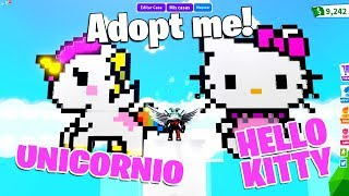 HOW TO MAKE A WILD PONY AND HELLO KITTY IN ADOPT ME ROBLOX!