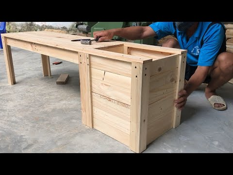 amazing-woodworking-project-from-pallet-wood-//-how-to-build-a-planter-bench---diy