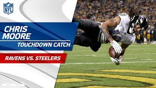 Chris Moore Cuts Lead on this Big TD Catch vs Pittsburgh  Ravens vs Steelers  NFL Wk 14