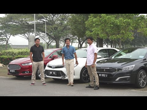 DRIVEN 2015 #3: Toyota Camry Hybrid vs Ford Mondeo vs Peugeot 508 GT