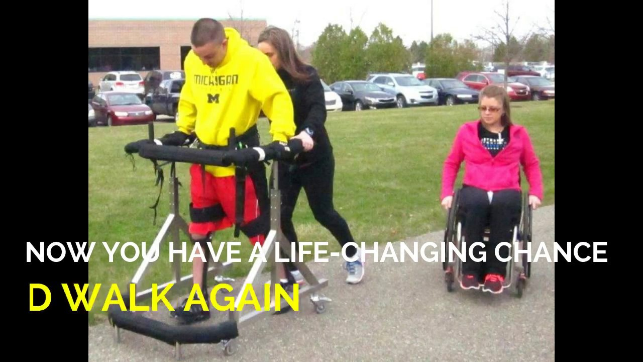 Life Changing to Walk Again in the Gait Harness System - YouTube