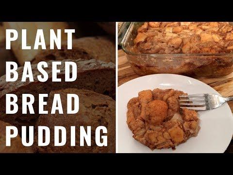 Plant Based Bread Pudding (Vegan, WFPB)
