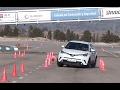 Toyota C-HR Hybrid 122 CV 2017 - Maniobra de esquiva (moose test) y eslalon | k…