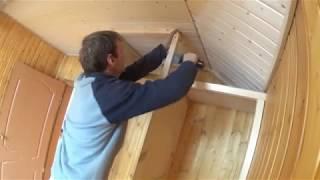 як зробити двері з вагонки на шафу