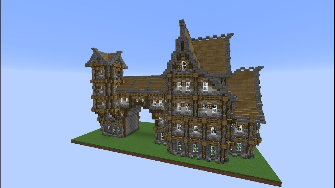 Minecraft Construction Tutoriel Villa Médiévale