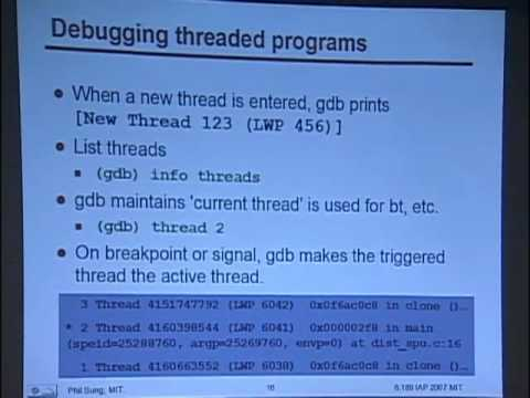 Recitation 4: Cell debugging tools | MIT 6 189 Multicore Programming  Primer, IAP 2007