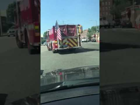 Boston's CORRUPT Grove Hall Firefighters GANGSTALKING w/their sirens!
