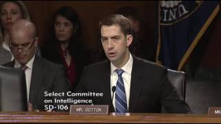 April 26, 2017: Sen. Cotton's Q & A during Senate Intelligence Committee Hearing