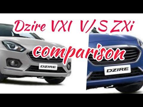 Maruti Suzuki Dzire ZXi V/S VXI full comparison review