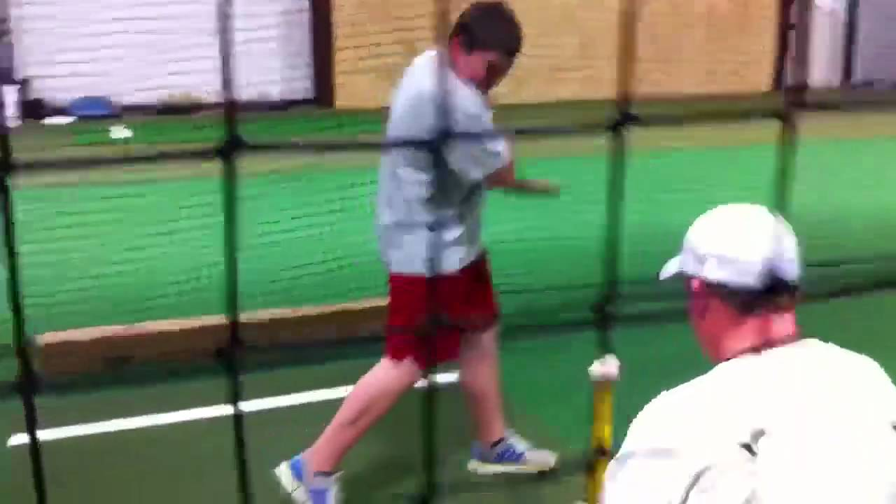 Baseball batting cage - YouTube