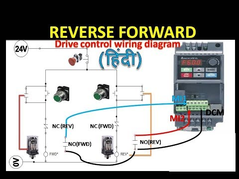 🔴vfd forward and reverse wiring with programming logic relay drive single phase vfd circuit diagram basics of variable frequency motor drives