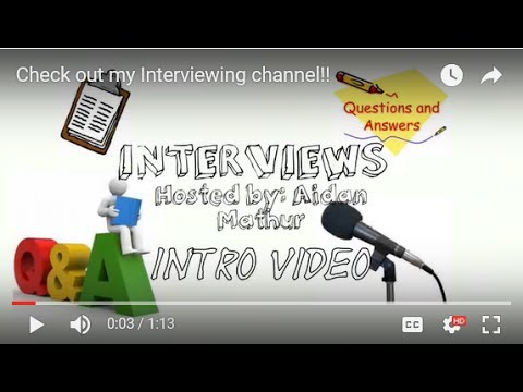 Check out my Interviewing channel!! - YouTube