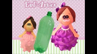Aprenda a fazer uma boneca na garrafa PET