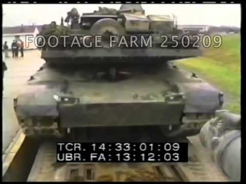 M1 Abrams Tanks Firing; Gas Masks; Simulators 250209-08 | Footage Farm