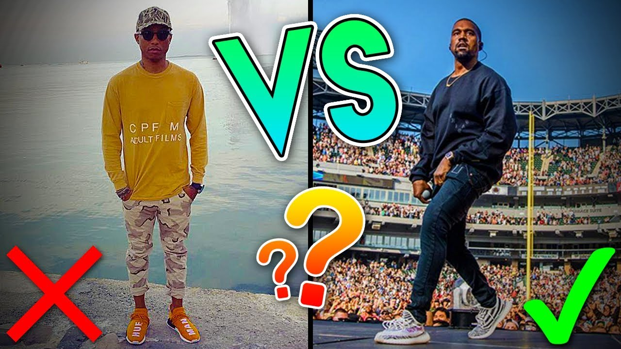d144bad49 WHY THE KANYE WEST YEEZY IS BETTER THAN THE PHARRELL WILLIAMS HUMAN RACE  FOR NOW...(FULL COMPARISON)