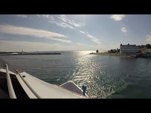 Lake Huron High Speed Ferry from Mackinac Island, MI to Mackinaw City, MI