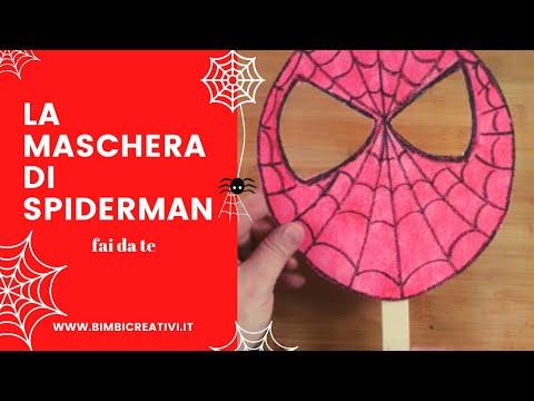 La Maschera Di Spiderman Fai Da Te Bimbi Creativi