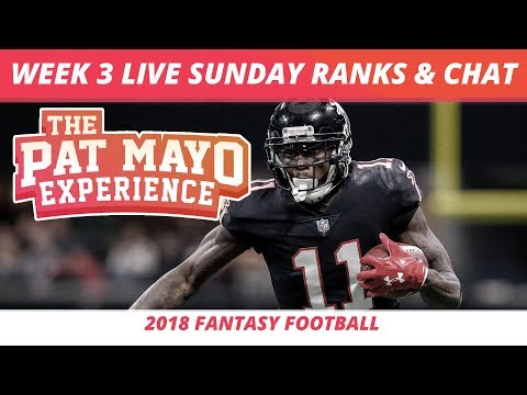 Fantasy Football Week 3 Rankings Update Live — DraftKings Picks, Injuries & Viewer Chat