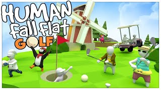 THE NEW GOLF LEVEL! - Human Fall Flat (4 player gameplay)