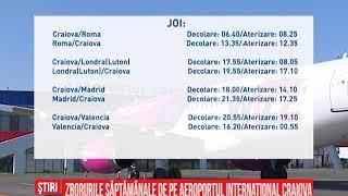 Zborurile săptămânale de pe aeroportul internaţional Craiova