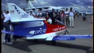 BD-5 Jet Airplane Display New Zealand 1992.