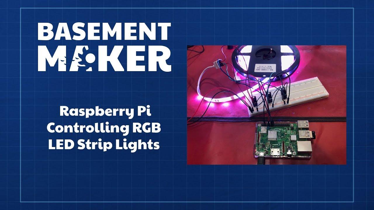 Raspberry Pi - Controlling RGB LED Strip Lights (12v)