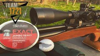 205 yard FX Streamline 22 cal Airgun Depot Exploding Golfball Challenge