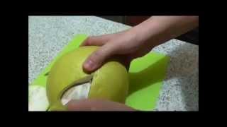Как быстро почистить помело