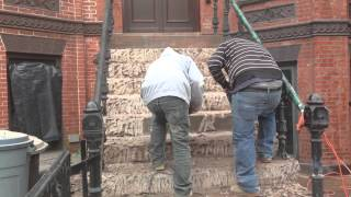 Brownstone Stoop Restoration- High Tech Construction Co