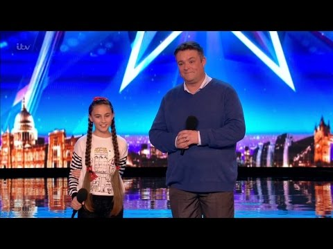 Britain's Got Talent 2017 Martin & Faye Fantastic Father Daughter Singing Duet Full Audition S11E04