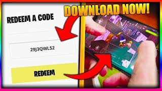 MOBILE FORTNITE DOWNLOAD NOW!!! Códigos lançados (IOS & ANDROID) (primeiro look)