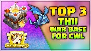 Top 3 Th11 War Base For CWL 2019 Anti Hogs Anti Electro Anti everything | Clash of Clans