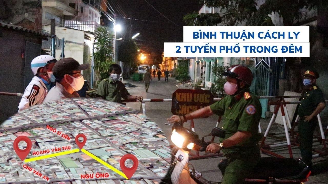 Sau bệnh nhân thứ 44, Bình Thuận cách ly 2 tuyến phố Phan Thiết trong đêm