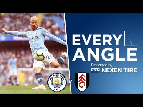David Silva's 50th Premier League Goal vs Fulham  |  Every Angle