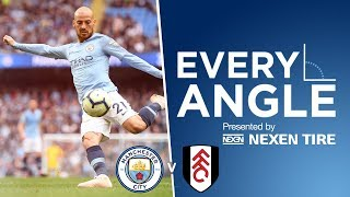 David Silva's 50th Premier League Goal vs Fulham  |  Every Angle