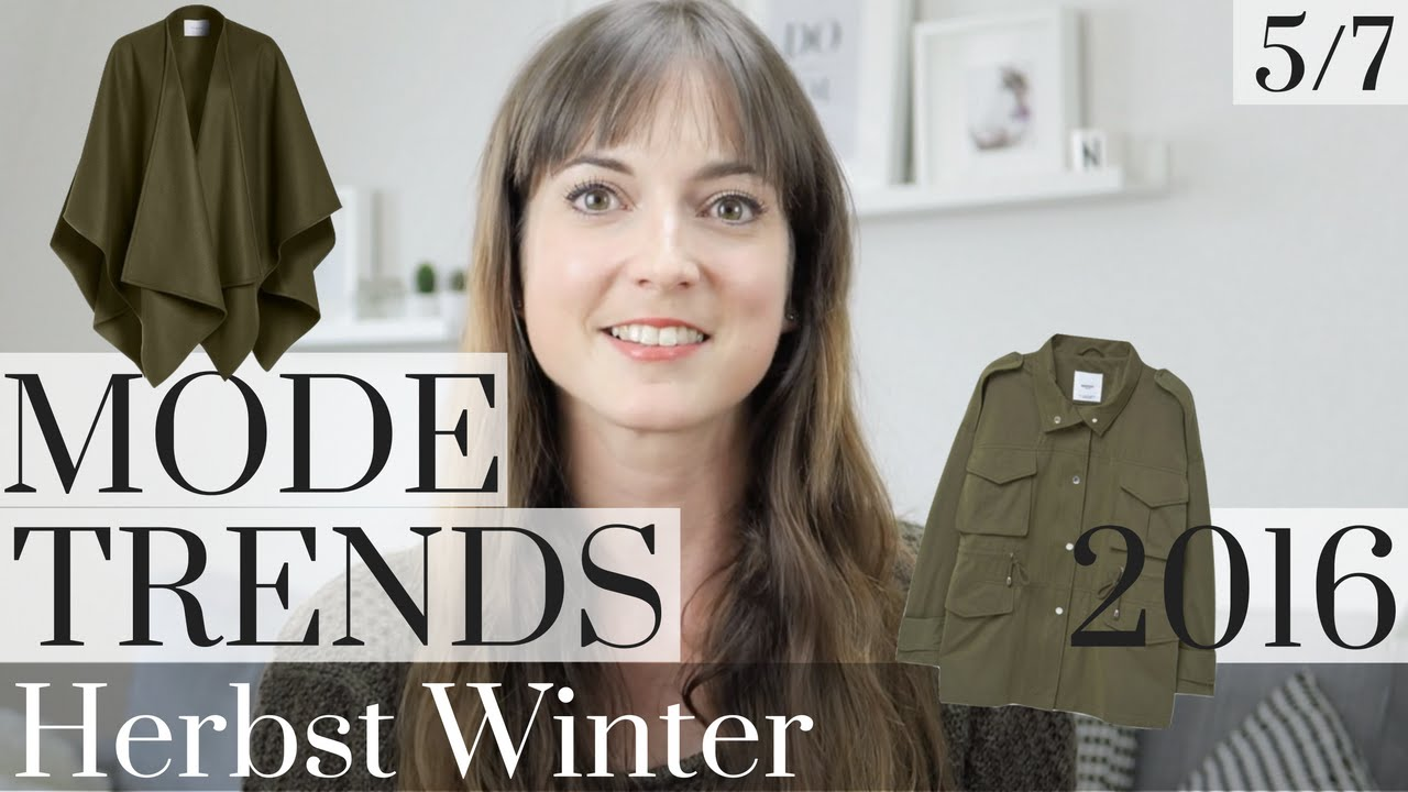 khaki modetrends herbst winter 2016 teil 5 von 7 modeblog herbsttrends mode youtube. Black Bedroom Furniture Sets. Home Design Ideas