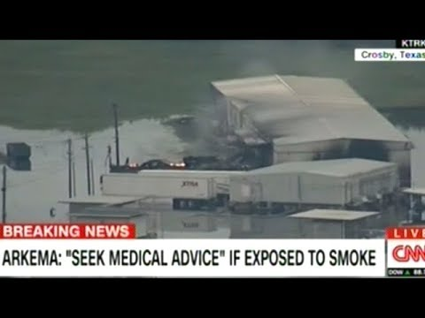 """SEEK MEDICAL ADVICE!"" Authorities Hold Press Conference On Smoking Chemical Plant In Texas"