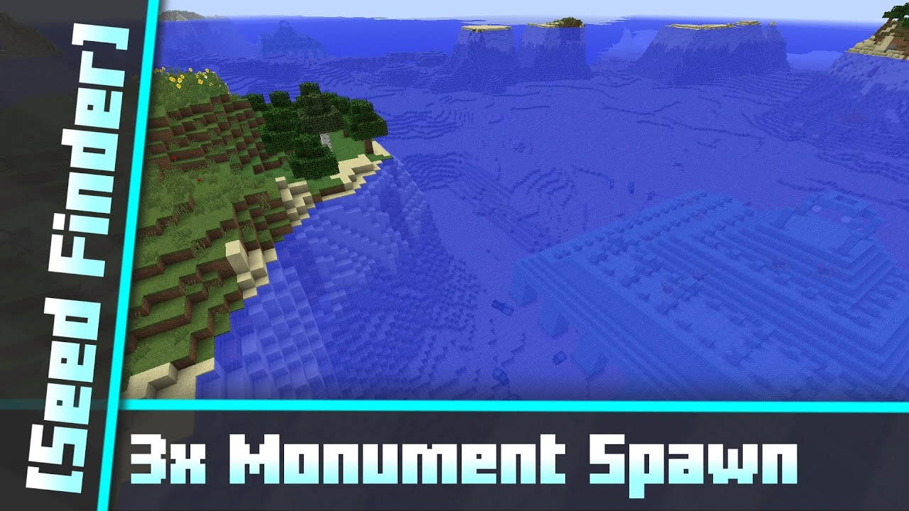 12x Ocean Monument at Spawn - All biomes around [Seed Finder] 12