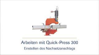 Hydraulischer Stanzbügel Quick Press 300  - Erstellen einer Lochreihe - HD |häwa