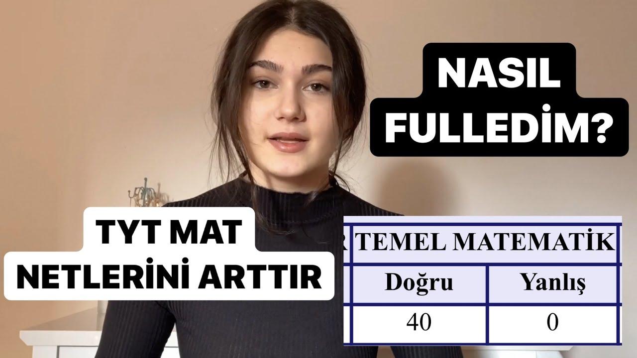 TYT MATEMATİK NASIL ÇALIŞILIR / NETLER NASIL ARTAR / TYT MATI NASIL FULLEDİM / KAYNAKLAR #yks #tyt