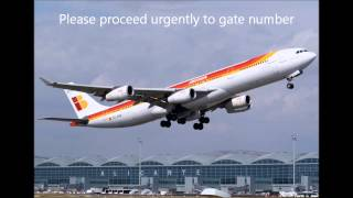 Alicante Airport announcements