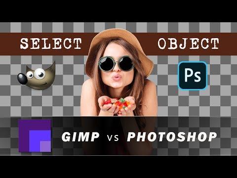 Remove Background in Gimp and Photoshop - Gimp 2.10 vs Photoshop 2020 vs Gimp 2.8 thumbnail
